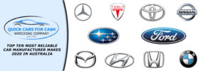 Top Ten Most Reliable Car Manufacturer Makes 2020 in Australia